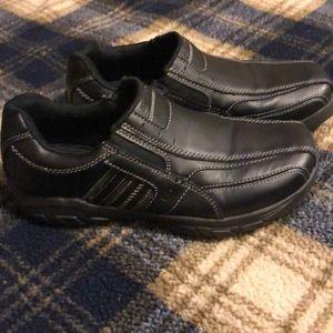 Boys slip on Skechers dress shoes
